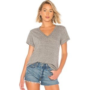 Current Elliot The V-Neck Tee in Gray Size 0